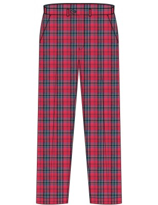 Red Tartan Trouser -- [Pre KG - KG2]