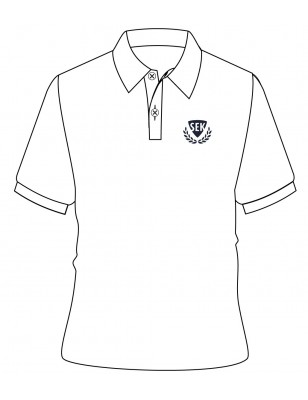 White Polo T-Shirt -- [KG1 - GRADE 5]