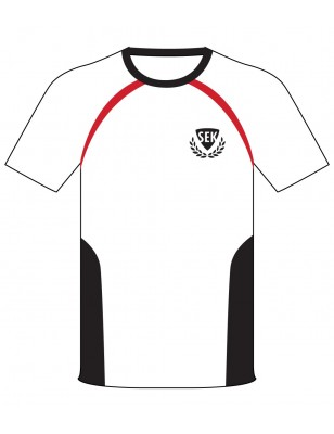 White Polo [ P.E. ] T-Shirt