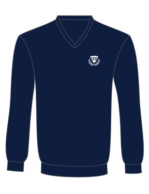 Navy Blue V-Neck Sweater -- [KG1 - GRADE 12]