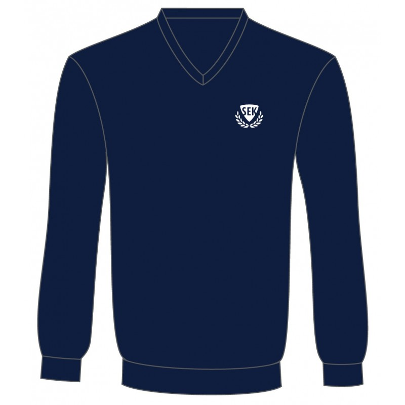 Navy Blue V-Neck Sweater -- [KG - GRADE 8]