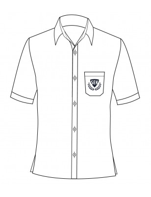 White Short Sleeve Shirt -- [GRADE 6 - GRADE 12]
