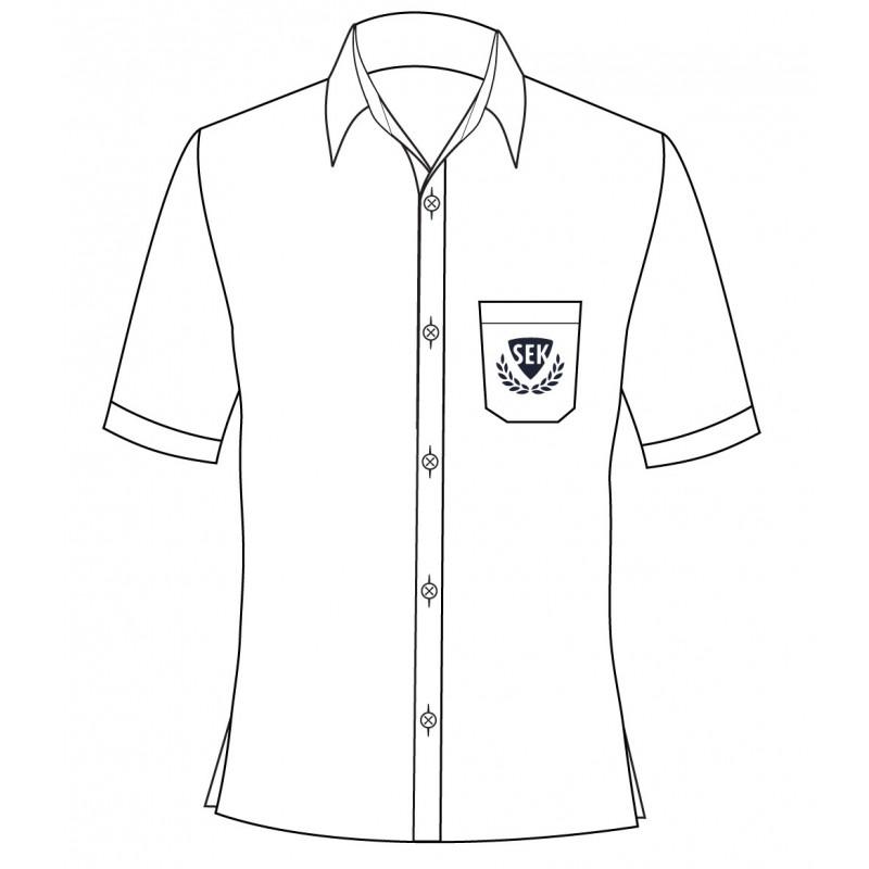 White Long Sleeve Shirt -- [GRADE 6 - GRADE 8]