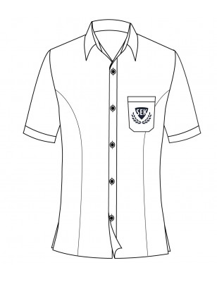 White Short Sleeve Blouse -- [GRADE 6 - GRADE 12]