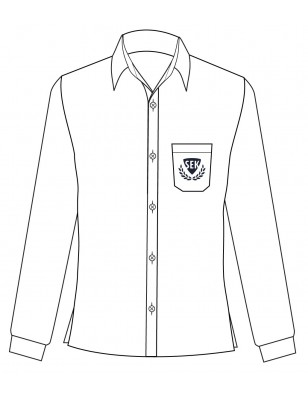 White Long Sleeve Shirt -- [GRADE 6 - GRADE 11]