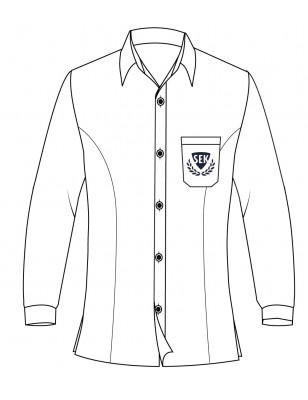 White Long Sleeve Blouse -- [GRADE 6 - GRADE 12]