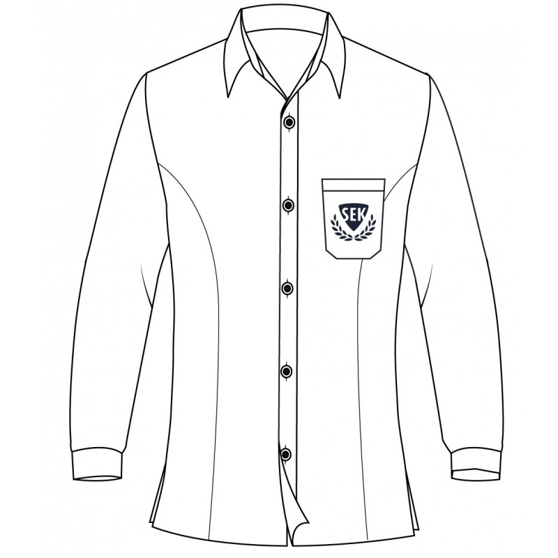 White Long Sleeve Blouse -- [GRADE 6 - GRADE 8]